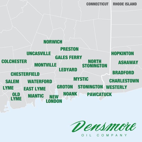 Densmore Service Area Map